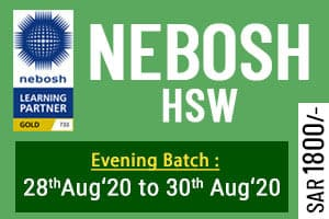 NEBOSH HSW Training